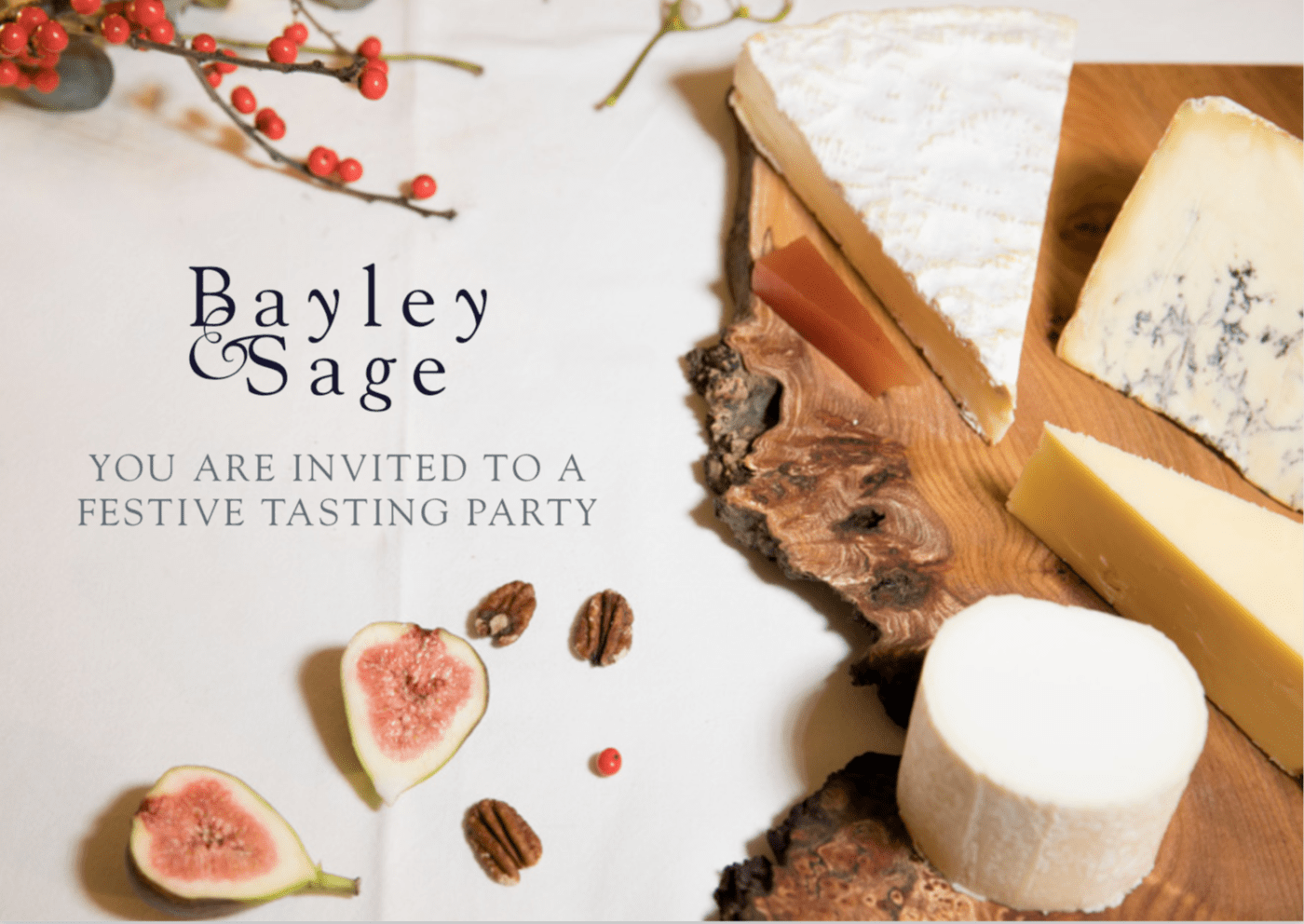 You Are Invited To Our Festive Tasting Party!